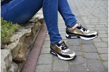 Buty sportowe trainers złoto- czarne