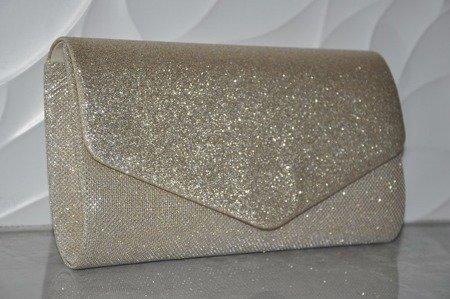 Elegancka torebka kopertówka złota