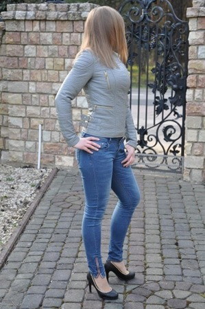 Ramoneska damska szara siwa