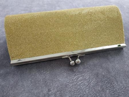 Torebka kopertówka złota wieczorowa mieniąca
